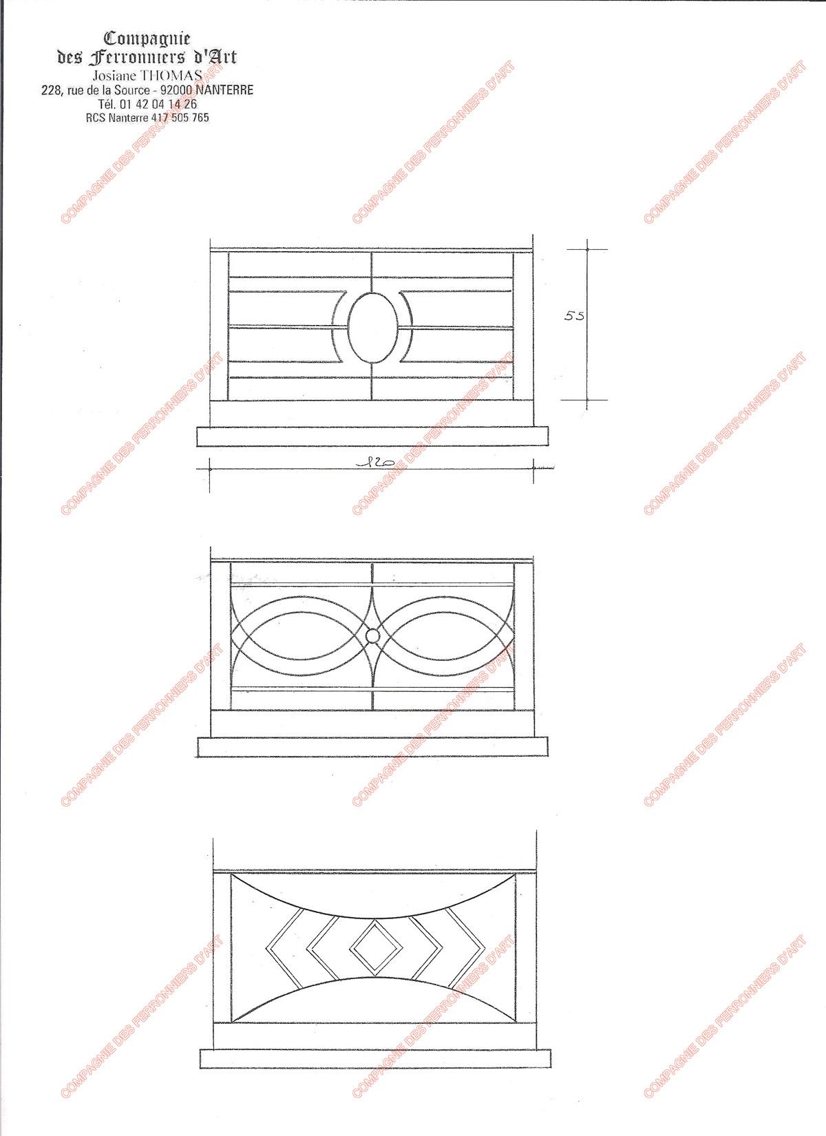 Appuis de fen tre en fer forg modernes mod le afm04 - Modele de fenetre en fer forge ...