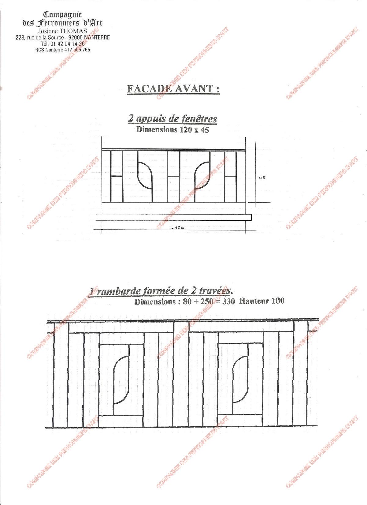 Appuis De Fenêtre En Fer Forgé Modernes Modèle Afm04 Motifs Variés