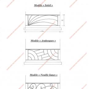 Garde corps en fer forg appuis de fen tre modernes for Fenetre zen modele paris