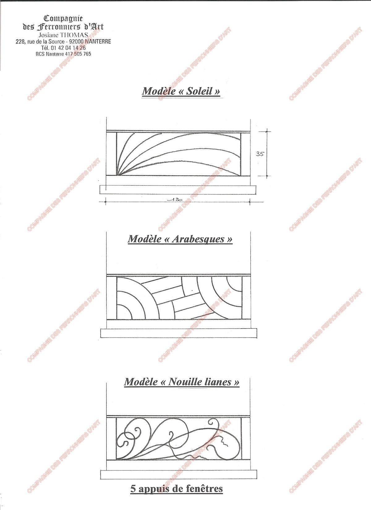 Appuis de fen tre en fer forg modernes mod le aft07 - Modele de fenetre en fer forge ...