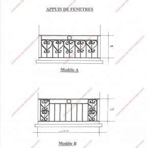 garde corps en fer forg appuis de fen tre divers mod le afd01 barreaux volutes. Black Bedroom Furniture Sets. Home Design Ideas