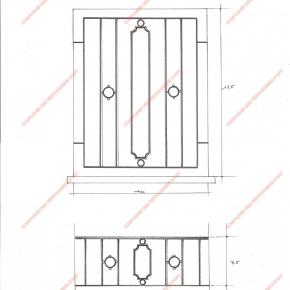 Garde corps en fer forg appuis de fen tre divers mod le afd06 saint louis for Modele fer forge pour fenetre