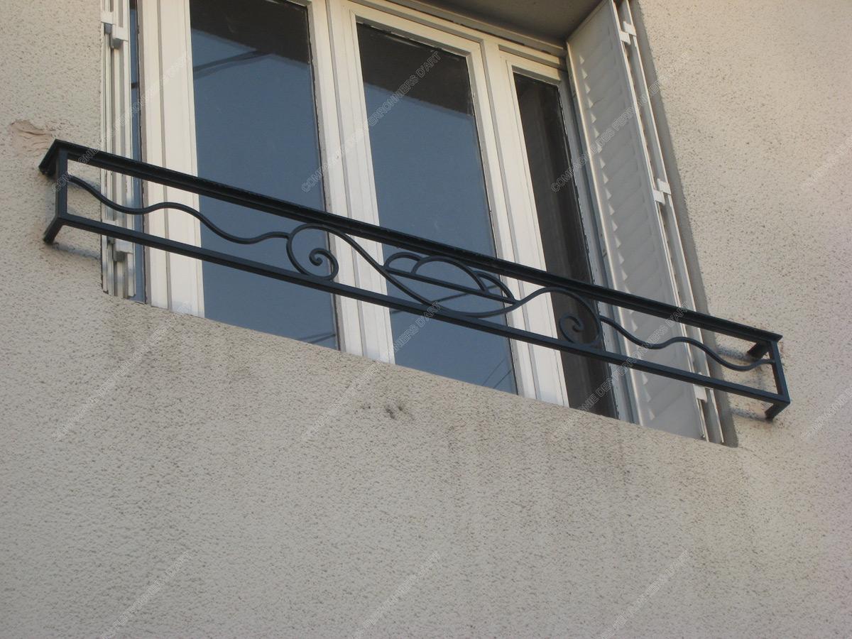Appuis De Fenêtre En Fer Forgé Divers Modèle Afd03 Vasque
