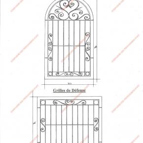 grilles en fer forg grilles de d fense traditionnelles mod le gdt11 barreaux volutes 1. Black Bedroom Furniture Sets. Home Design Ideas