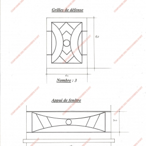 grilles en fer forg grilles de d fense modernes mod le gdm05 m daillon g om trique. Black Bedroom Furniture Sets. Home Design Ideas