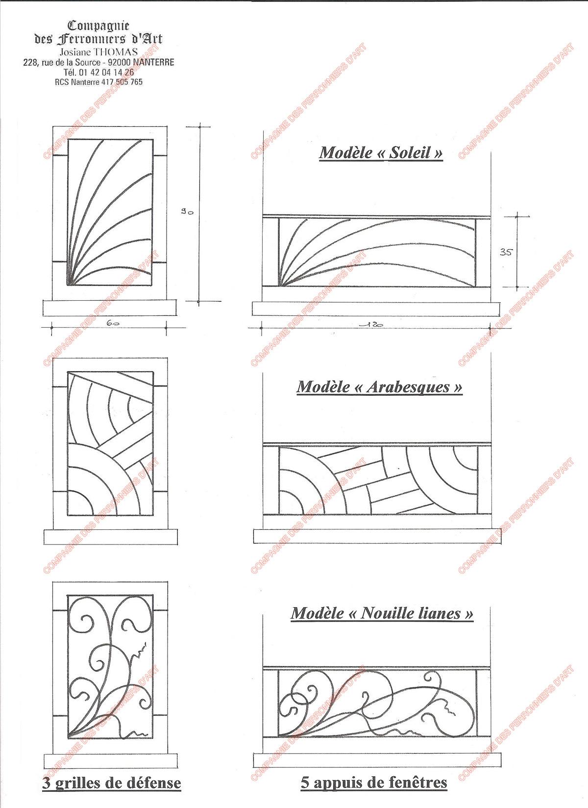 grilles en fer forg de d fense modernes mod le gdm01. Black Bedroom Furniture Sets. Home Design Ideas