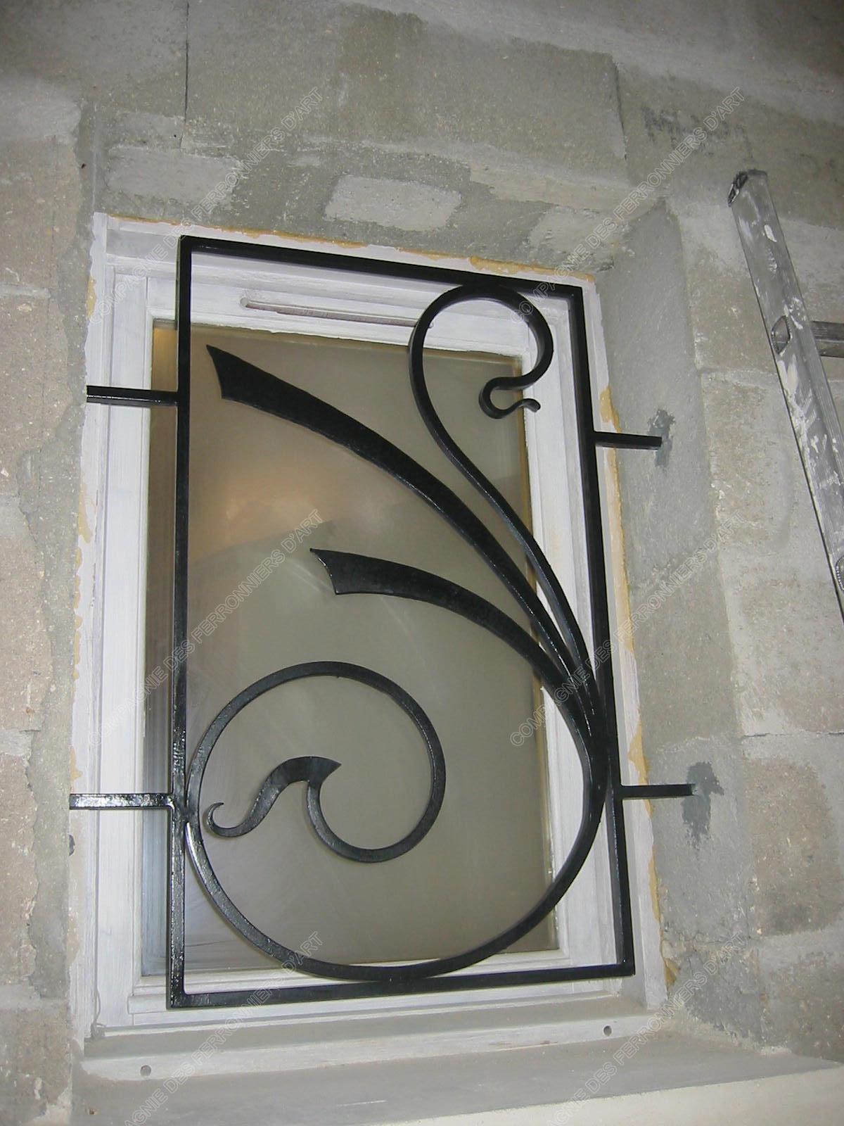 grilles en fer forg de d fense modernes mod le gdm02 nouille 2. Black Bedroom Furniture Sets. Home Design Ideas