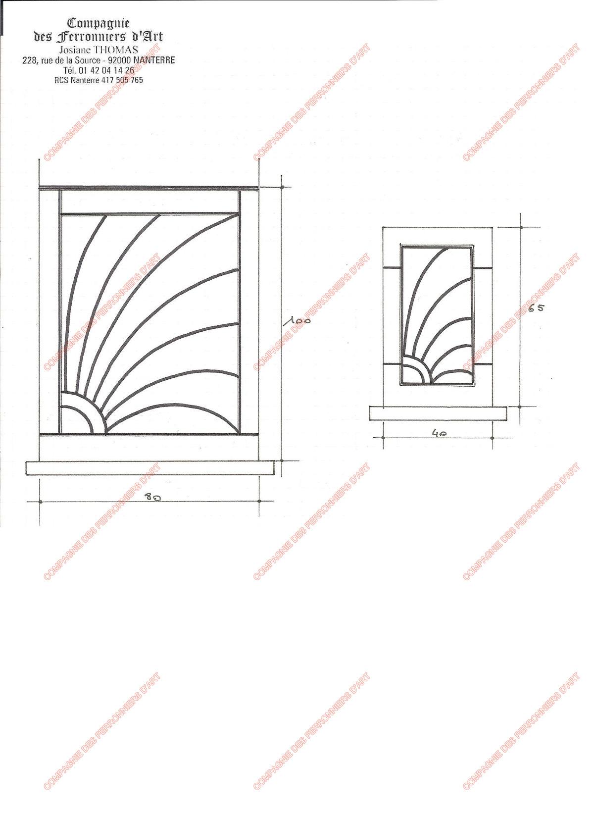 grilles en fer forg de d fense modernes mod le gdm09 soleil. Black Bedroom Furniture Sets. Home Design Ideas