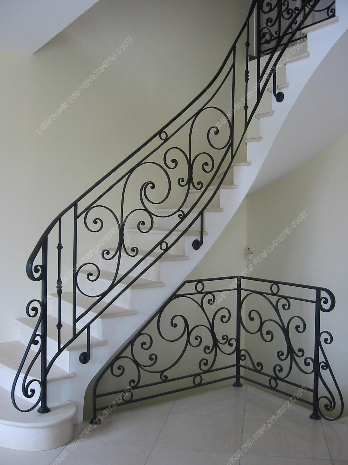 Rampes D 39 Escalier En Fer Forg Classique Mod Le Saint Germain