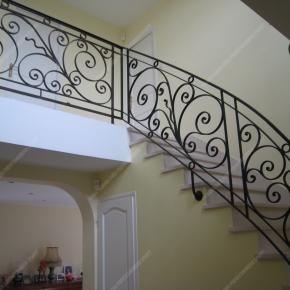 rampes d 39 escalier en fer forg style classique mod le vend e. Black Bedroom Furniture Sets. Home Design Ideas