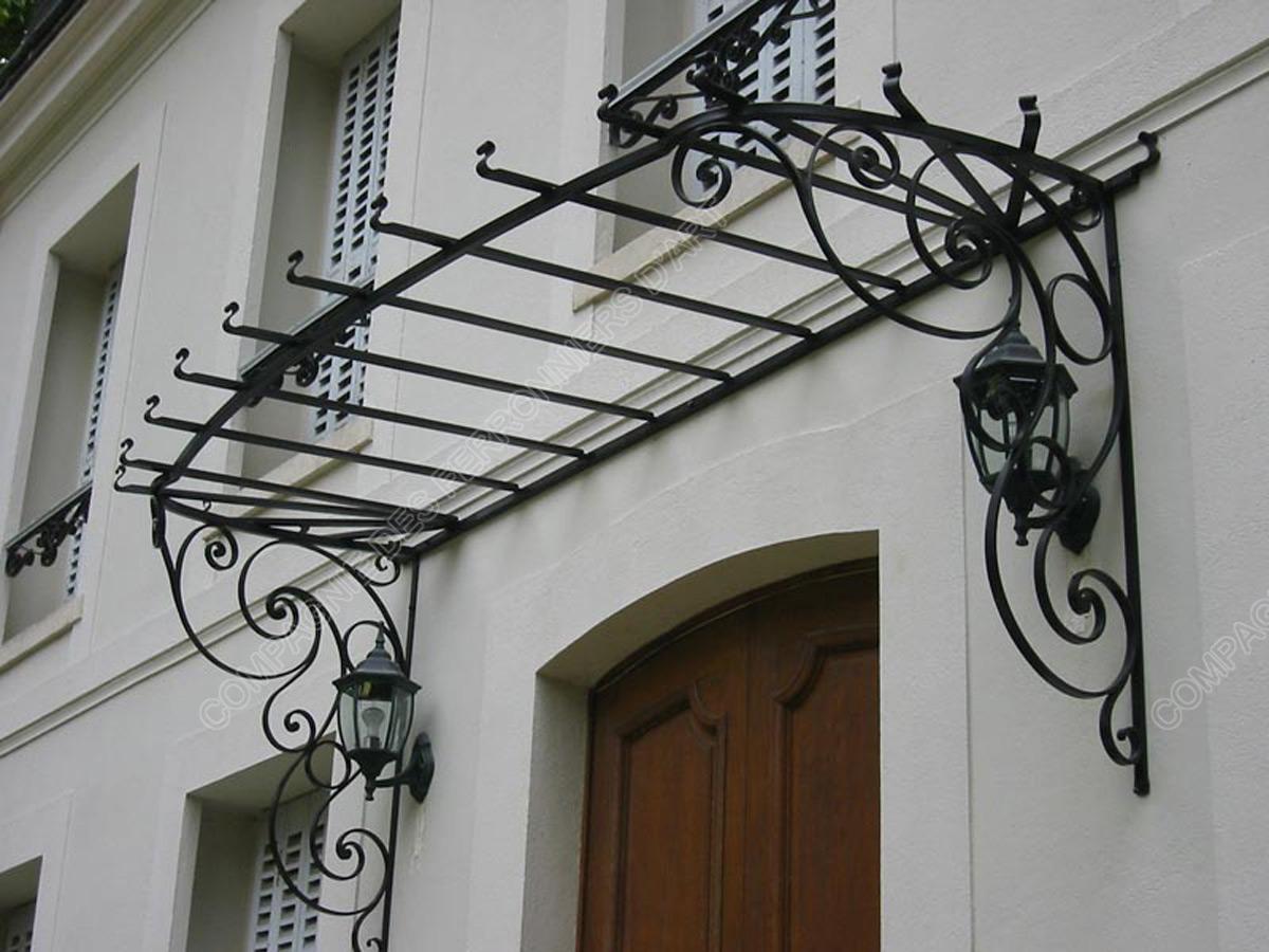 marquises en fer forg marquises allong es mod le ml 020. Black Bedroom Furniture Sets. Home Design Ideas