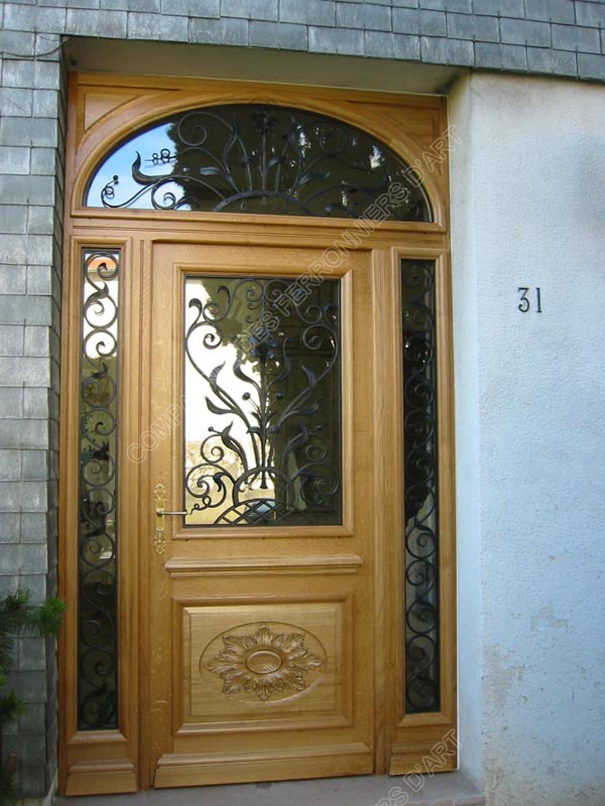 Portes d 39 entr e tierces mod le pet02 cintr e d corative - Porte entree tierce ...