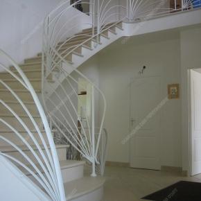 Rampes d\'escalier en fer forgé - Cie des Ferronniers d\'Art