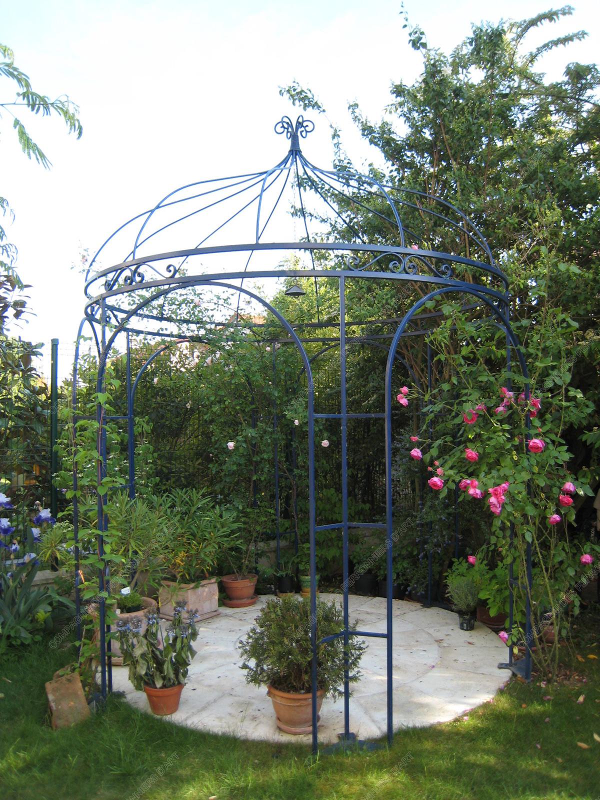 Marquises en fer forg auvents tonnelles mod le av 030 - Grille de jardin en fer ...