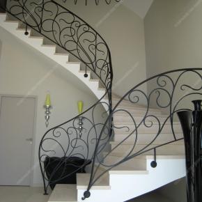 rampes d 39 escalier en fer forg style art nouveau mod le liane. Black Bedroom Furniture Sets. Home Design Ideas