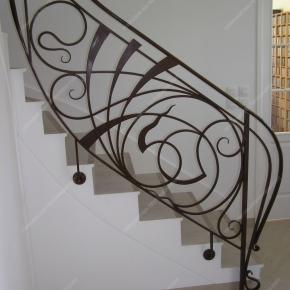 Rampes D 39 Escalier En Fer Forg Style Art Nouveau Mod Le Nouille