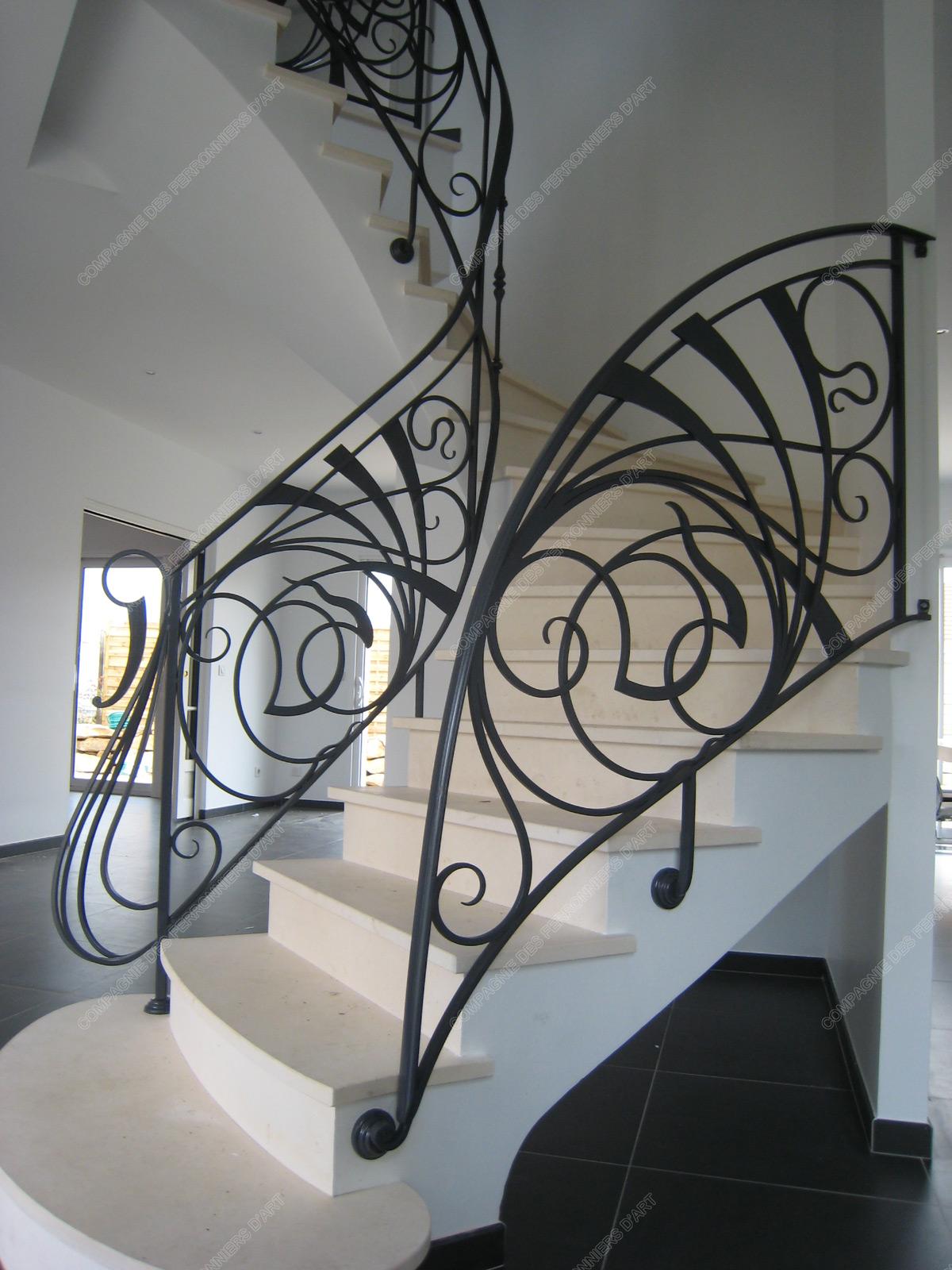 Rampes D Escalier En Fer Forg 233 Art Nouveau Mod 232 Le Nouille