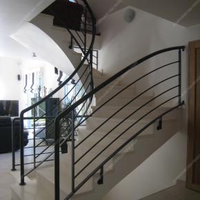 Rampes d 39 escalier en fer forg style design fonctionnel - Modele escalier interieur moderne ...