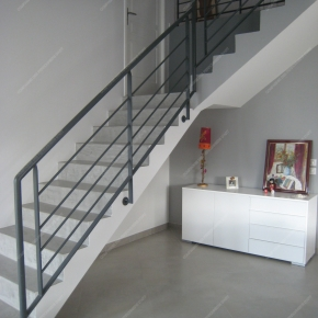 Rampes d 39 escalier en fer forg style design fonctionnel for Rampe escalier moderne