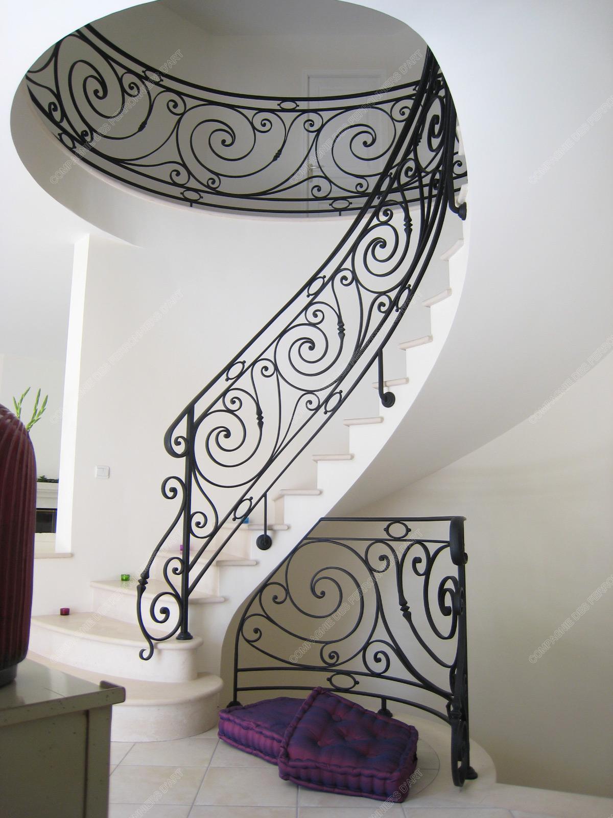 Gut gemocht Rampes d'escalier en fer forgé Classique : Modèle Louis XVI OU79