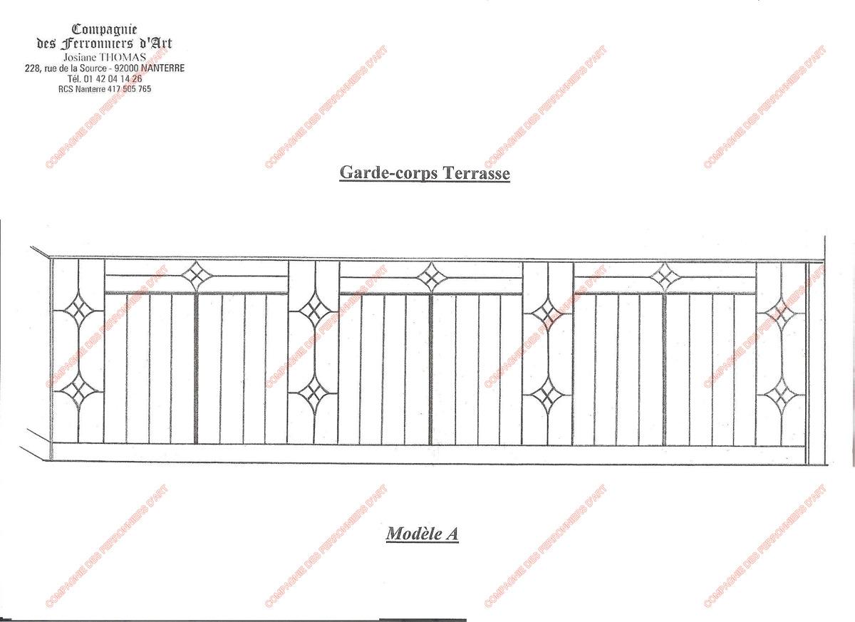 garde corps en fer forg modernes mod le gcm02 barreaux. Black Bedroom Furniture Sets. Home Design Ideas