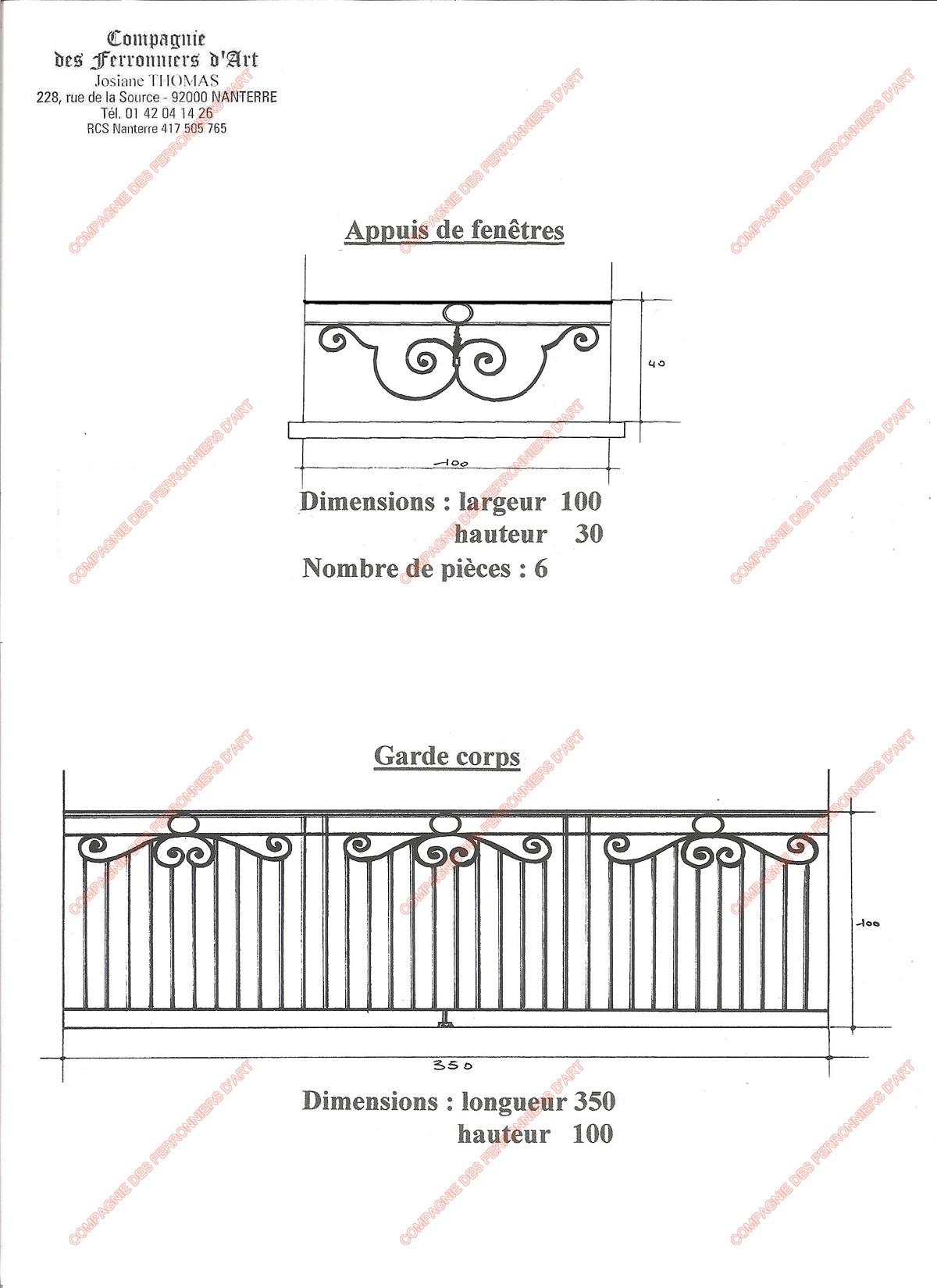appuis de fen tre en fer forg traditionnels mod le. Black Bedroom Furniture Sets. Home Design Ideas